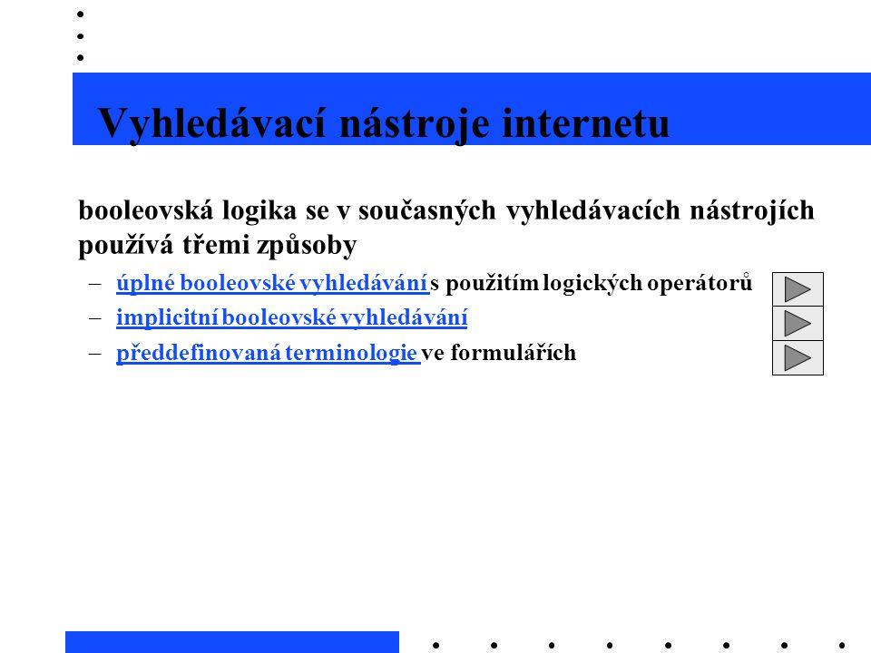 Vyhledávací nástroje internetu