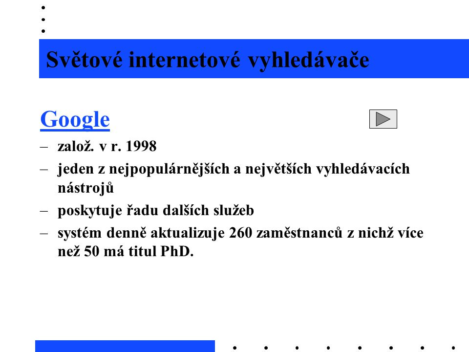 Světové internetové vyhledávače