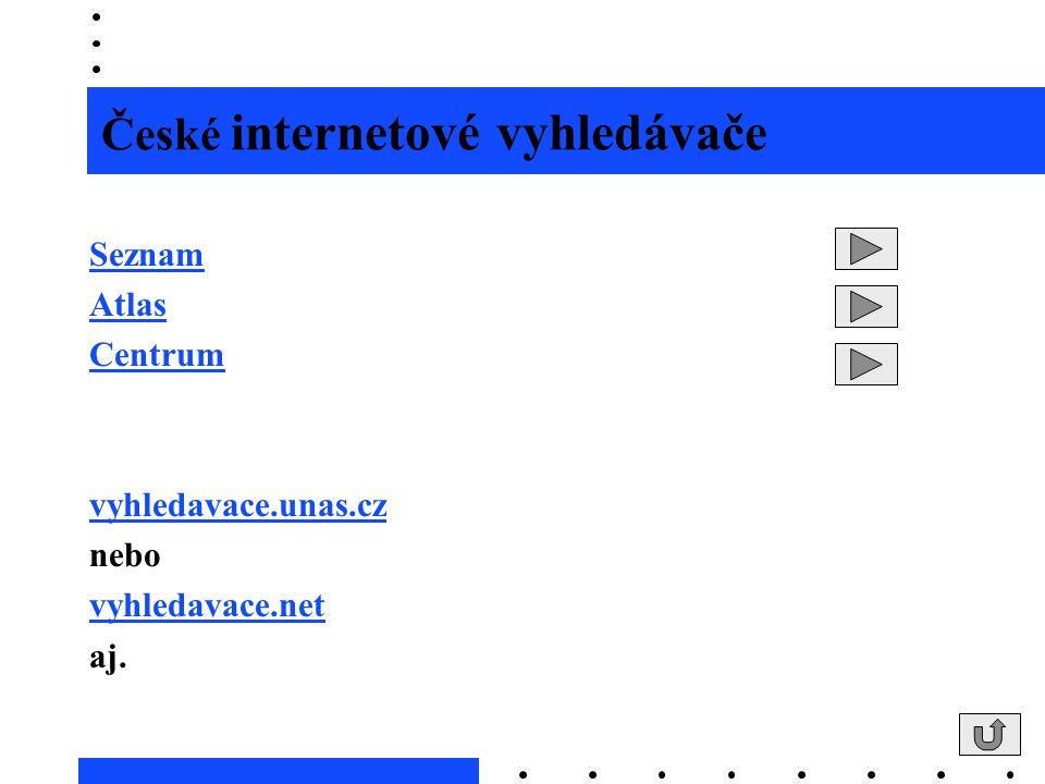České internetové vyhledávače