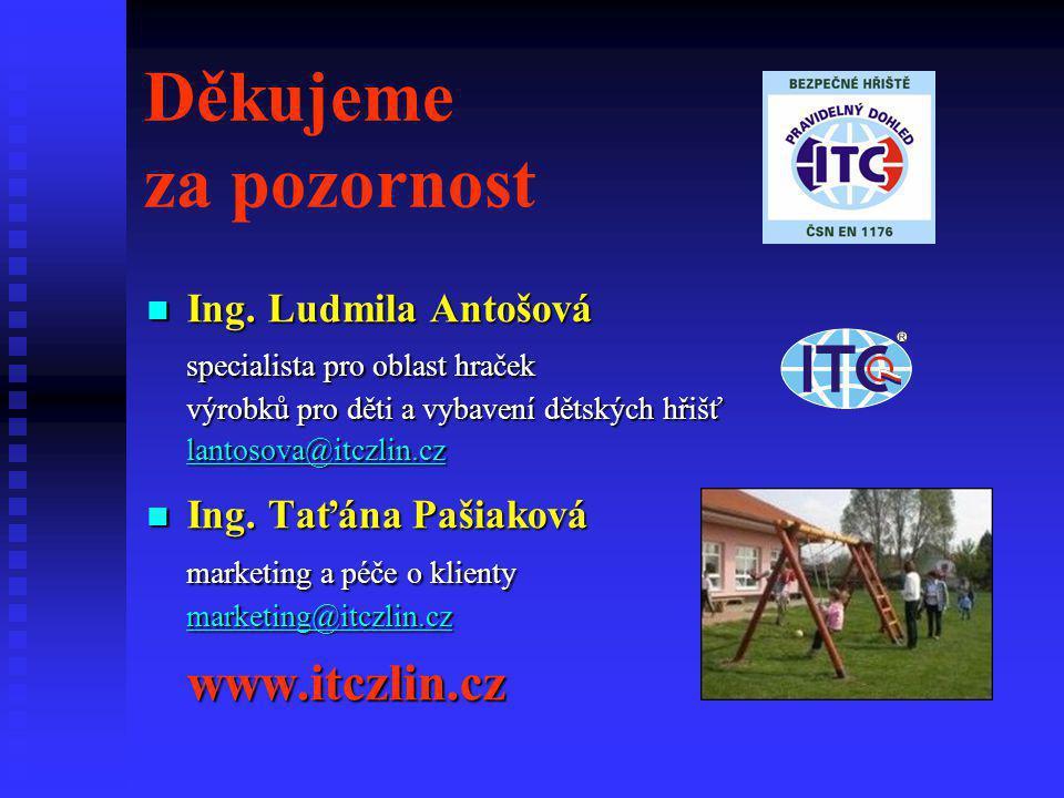 Děkujeme za pozornost Ing. Ludmila Antošová