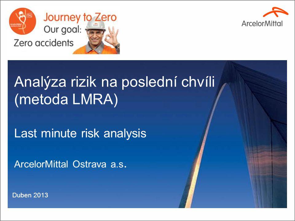 Analýza rizik na poslední chvíli (metoda LMRA)