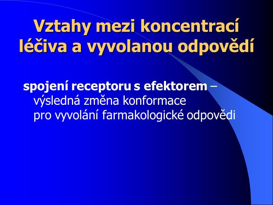 Vztahy mezi koncentrací léčiva a vyvolanou odpovědí