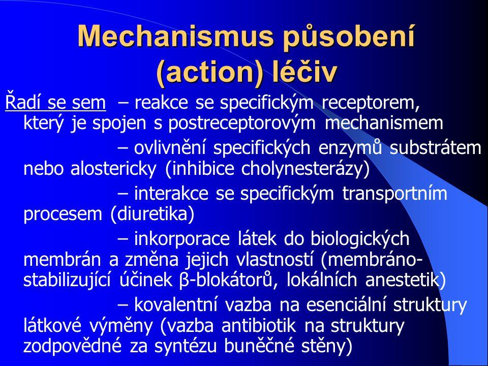 Mechanismus působení (action) léčiv