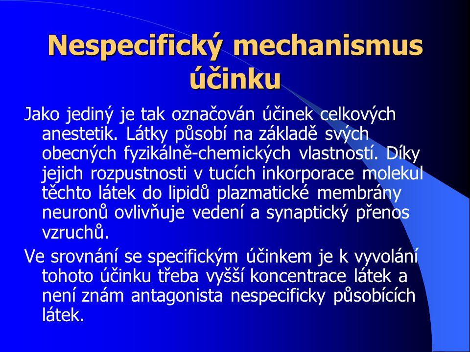 Nespecifický mechanismus účinku