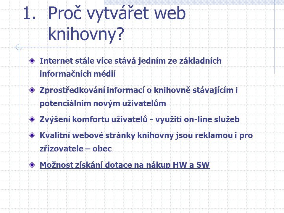 Proč vytvářet web knihovny