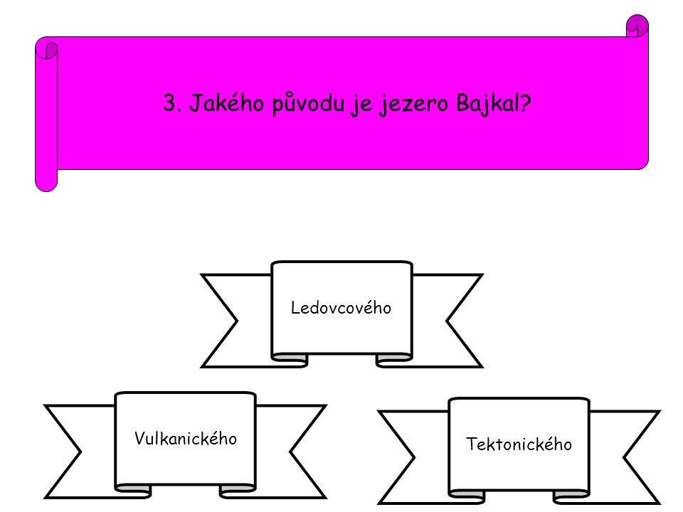 3. Jakého původu je jezero Bajkal