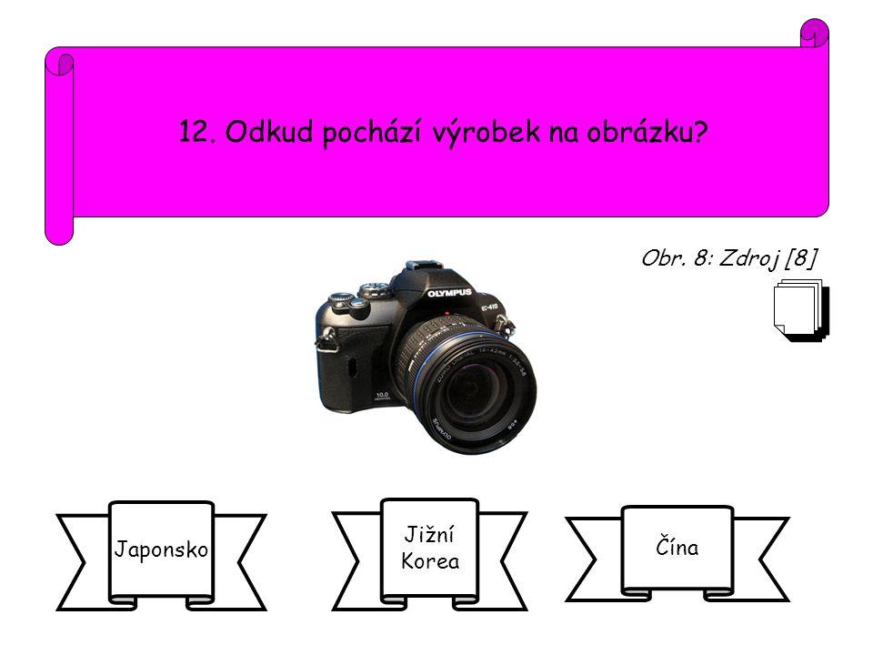 12. Odkud pochází výrobek na obrázku
