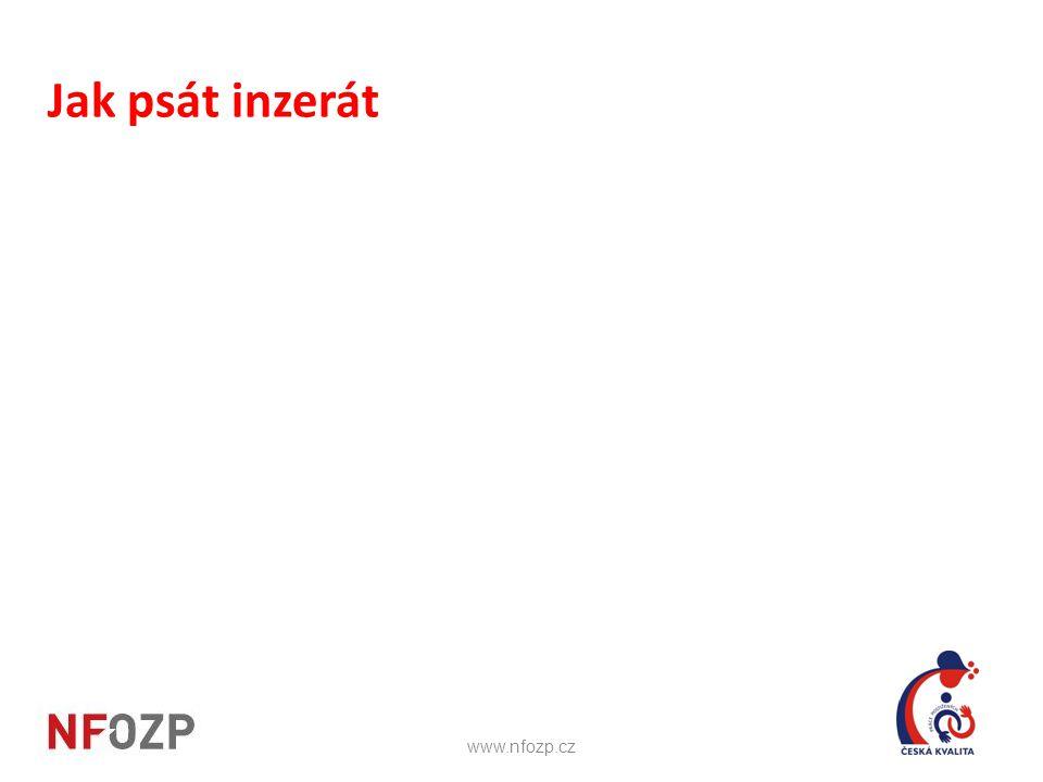 Jak psát inzerát www.nfozp.cz