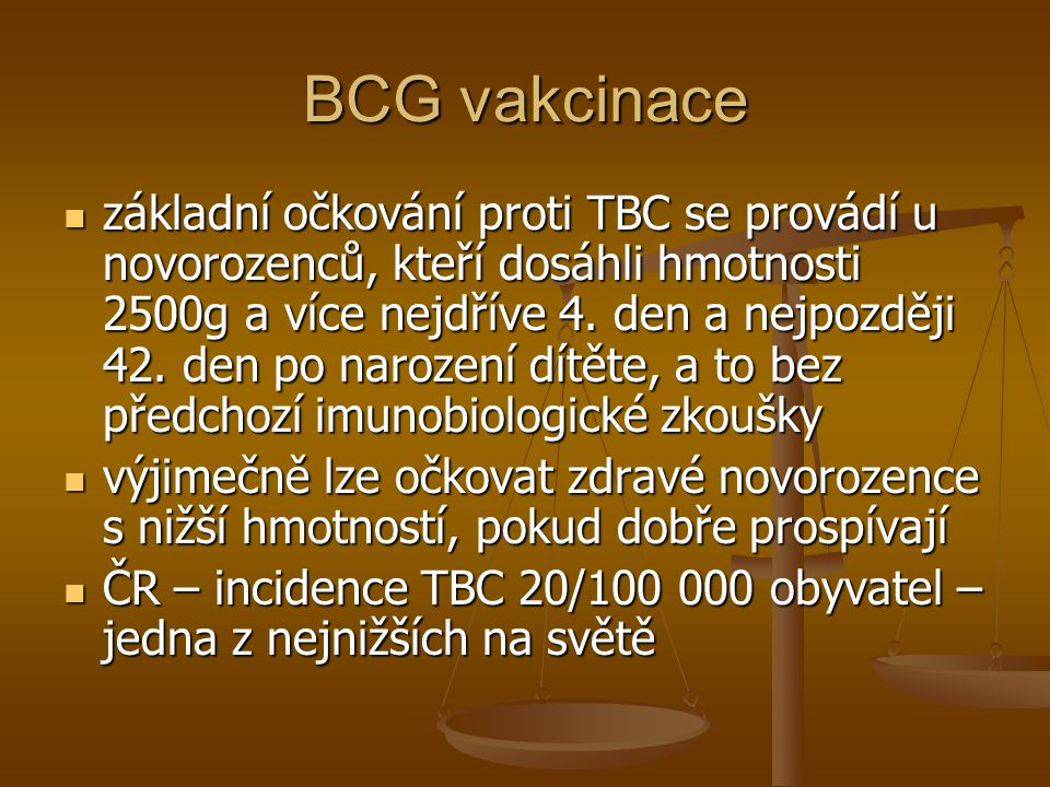 BCG vakcinace