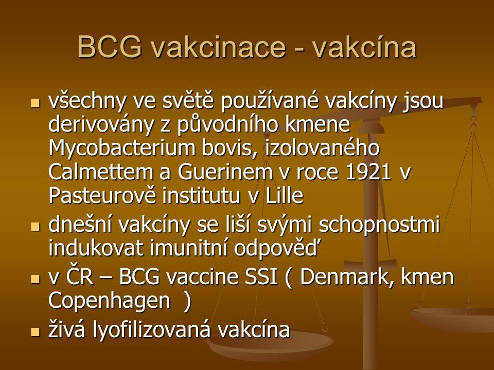 BCG vakcinace - vakcína