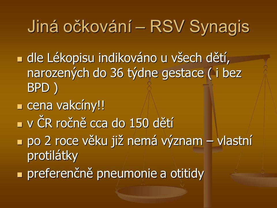 Jiná očkování – RSV Synagis