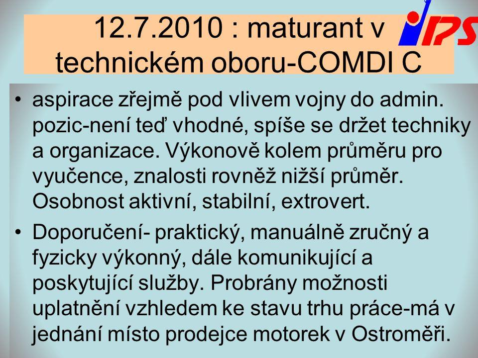 12.7.2010 : maturant v technickém oboru-COMDI C