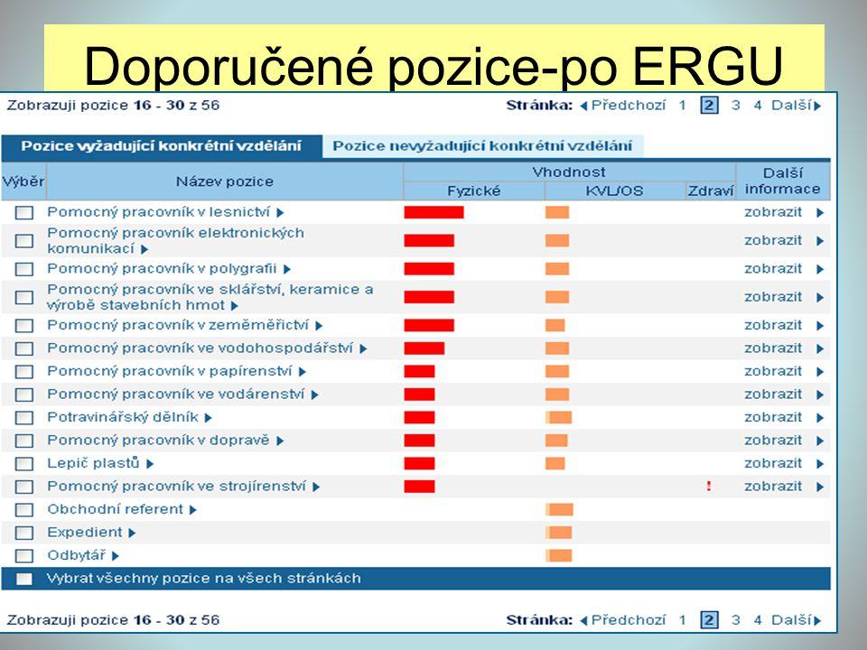 Doporučené pozice-po ERGU