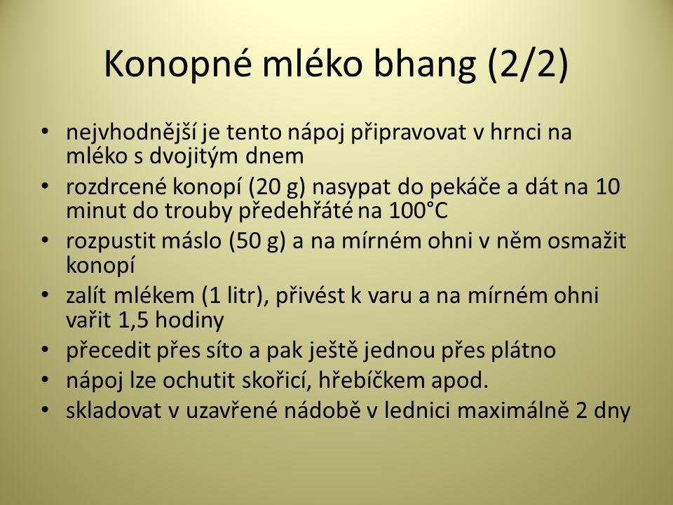 Konopné mléko bhang (2/2)