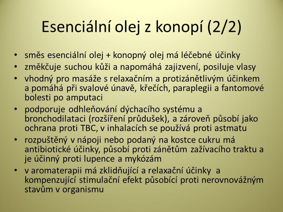 Esenciální olej z konopí (2/2)