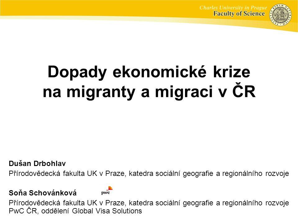 Dopady ekonomické krize na migranty a migraci v ČR
