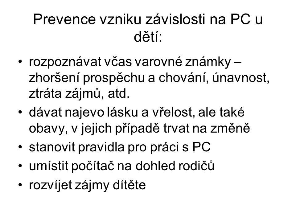 Prevence vzniku závislosti na PC u dětí: