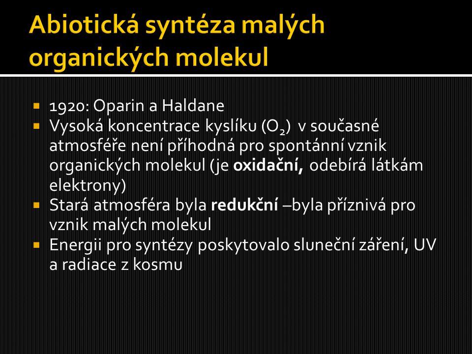 Abiotická syntéza malých organických molekul