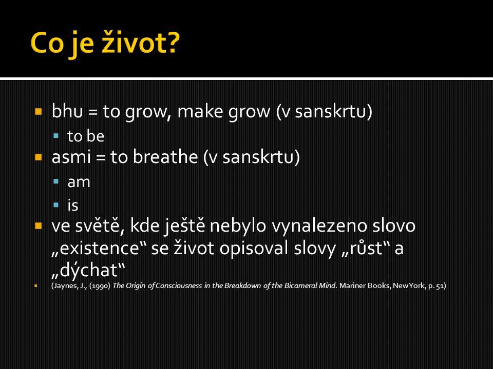 Co je život bhu = to grow, make grow (v sanskrtu)
