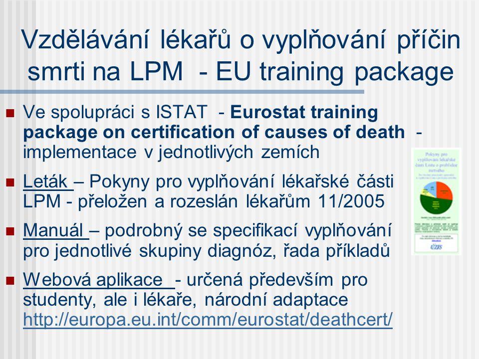 Vzdělávání lékařů o vyplňování příčin smrti na LPM - EU training package
