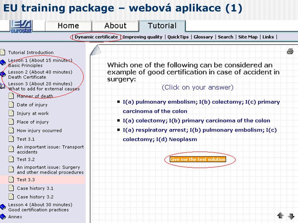 EU training package – webová aplikace (1)