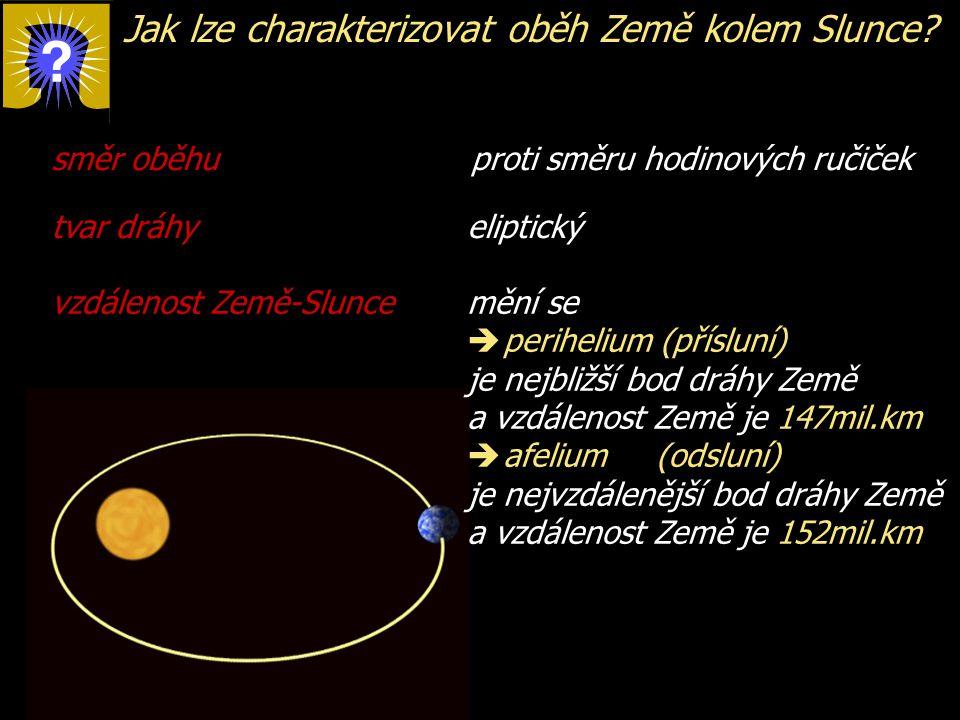 Jak lze charakterizovat oběh Země kolem Slunce