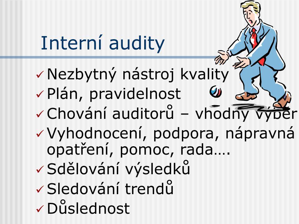Interní audity Nezbytný nástroj kvality Plán, pravidelnost