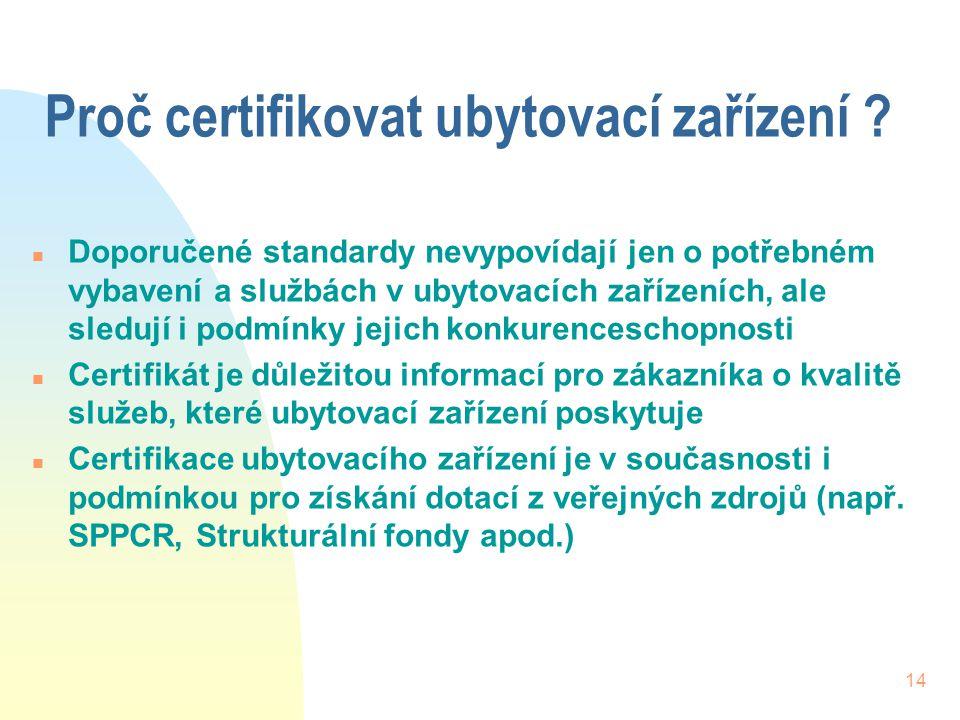 Proč certifikovat ubytovací zařízení