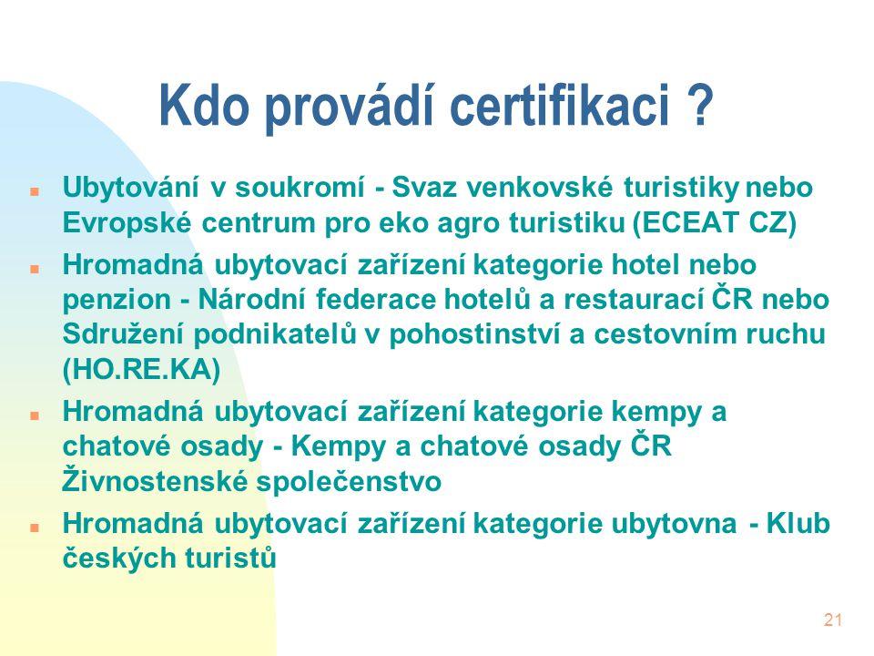 Kdo provádí certifikaci