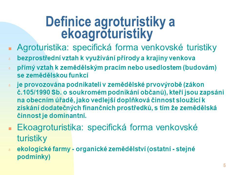 Definice agroturistiky a ekoagroturistiky