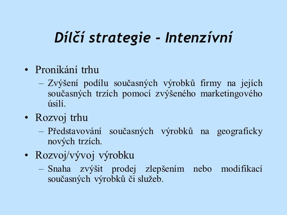 Dílčí strategie - Intenzívní