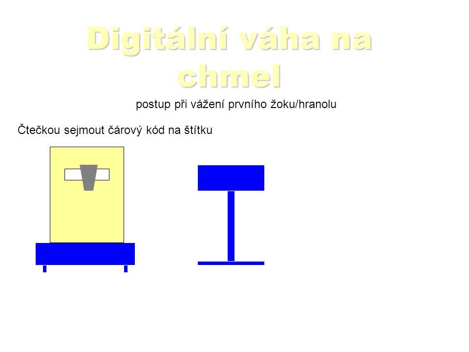 Digitální váha na chmel