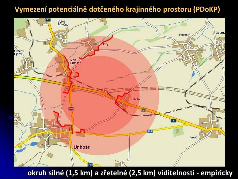 Vymezení potenciálně dotčeného krajinného prostoru (PDoKP)