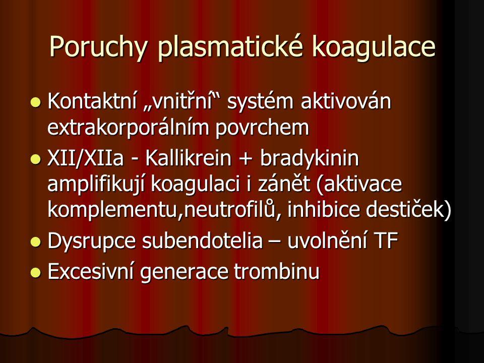 Poruchy plasmatické koagulace