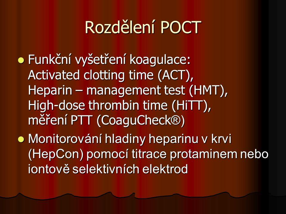 Rozdělení POCT
