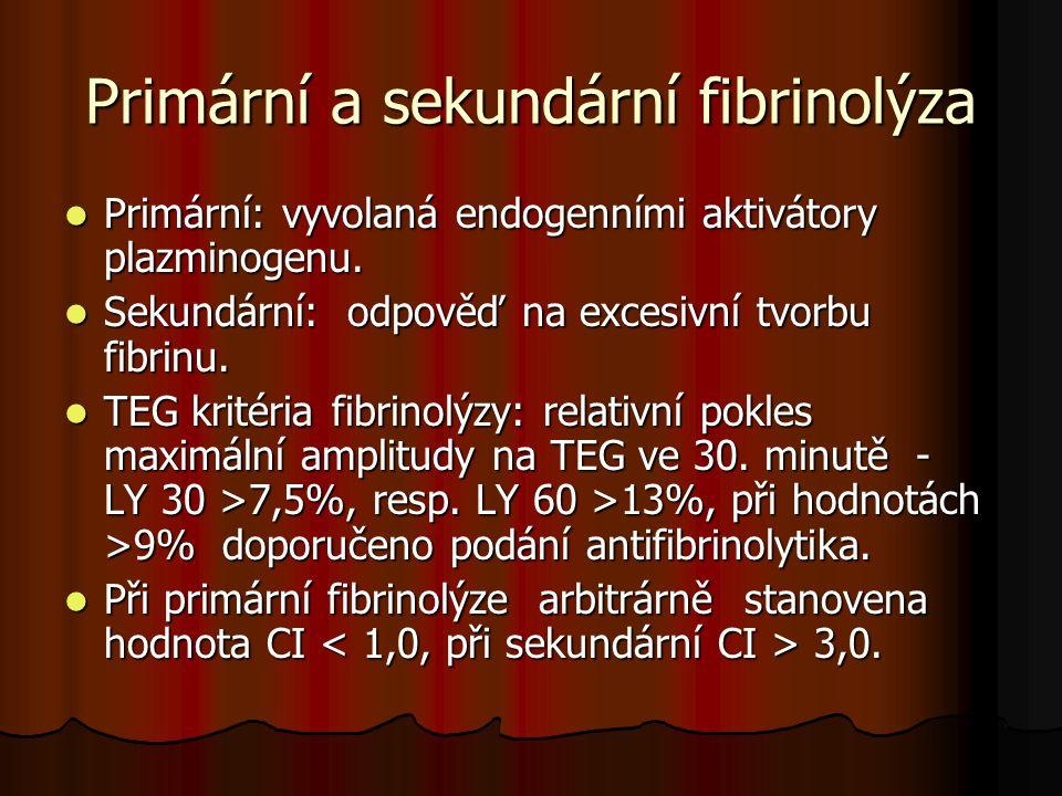 Primární a sekundární fibrinolýza