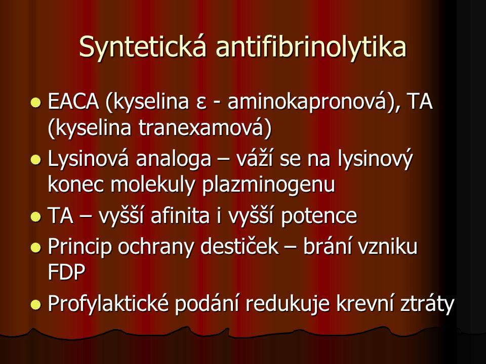 Syntetická antifibrinolytika
