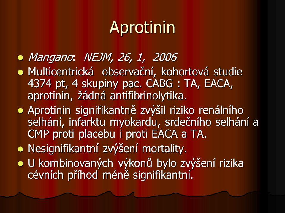 Aprotinin Mangano: NEJM, 26, 1, 2006