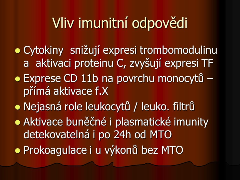 Vliv imunitní odpovědi