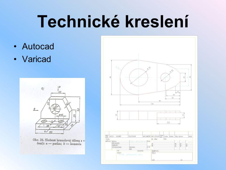 Technické kreslení Autocad Varicad
