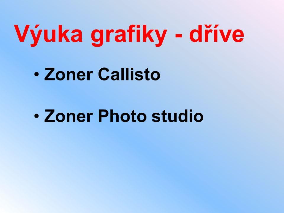 Výuka grafiky - dříve Zoner Callisto Zoner Photo studio