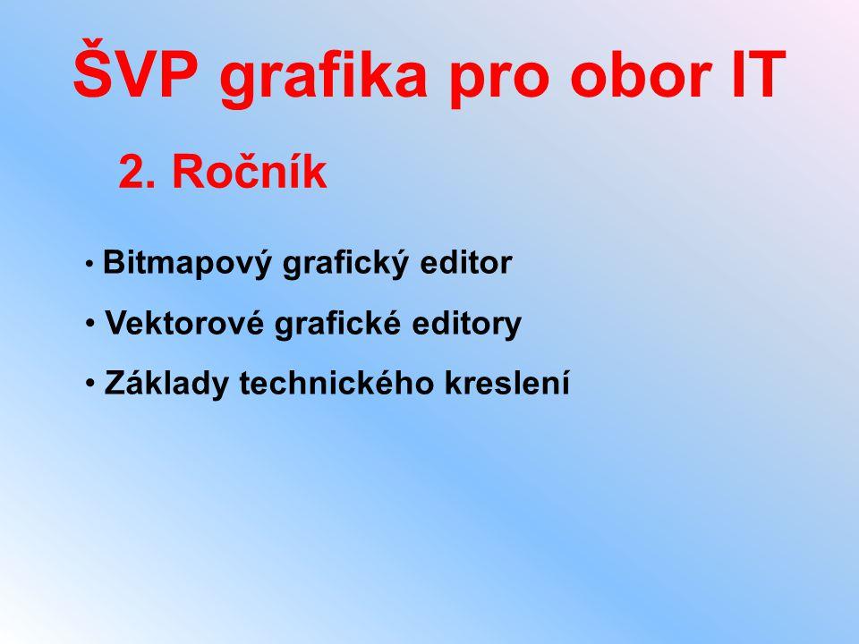 ŠVP grafika pro obor IT 2. Ročník Vektorové grafické editory