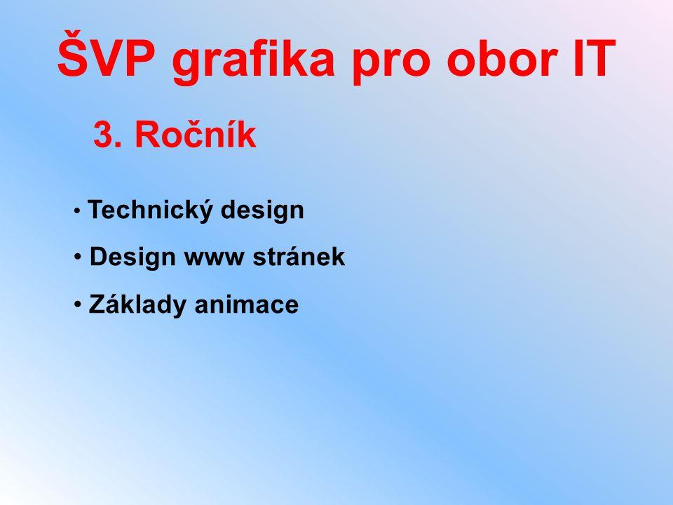 ŠVP grafika pro obor IT 3. Ročník Design www stránek Základy animace