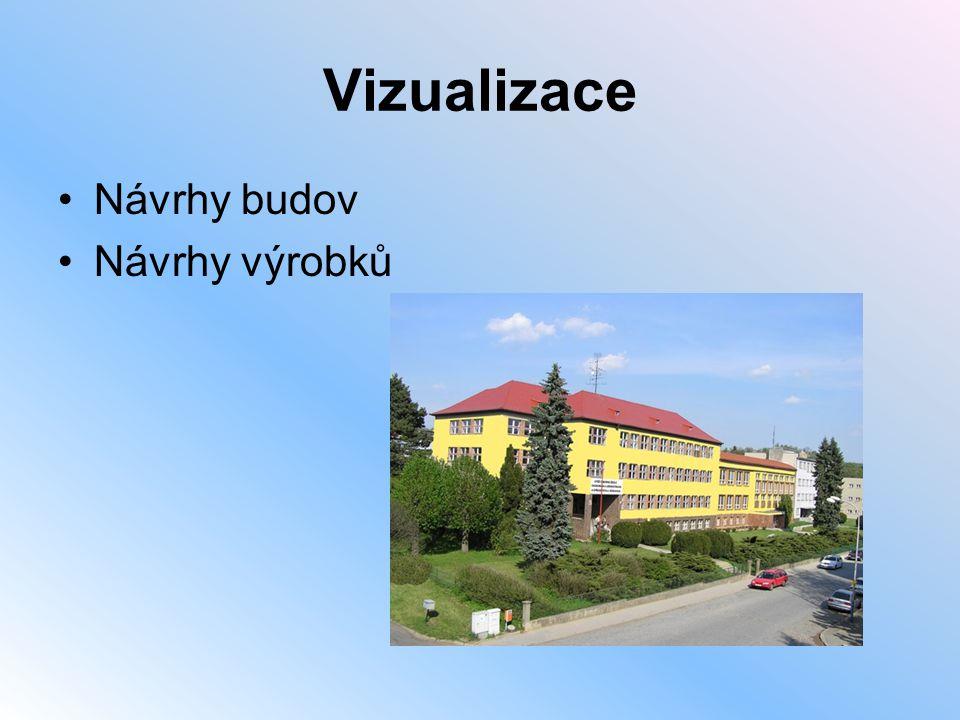 Vizualizace Návrhy budov Návrhy výrobků