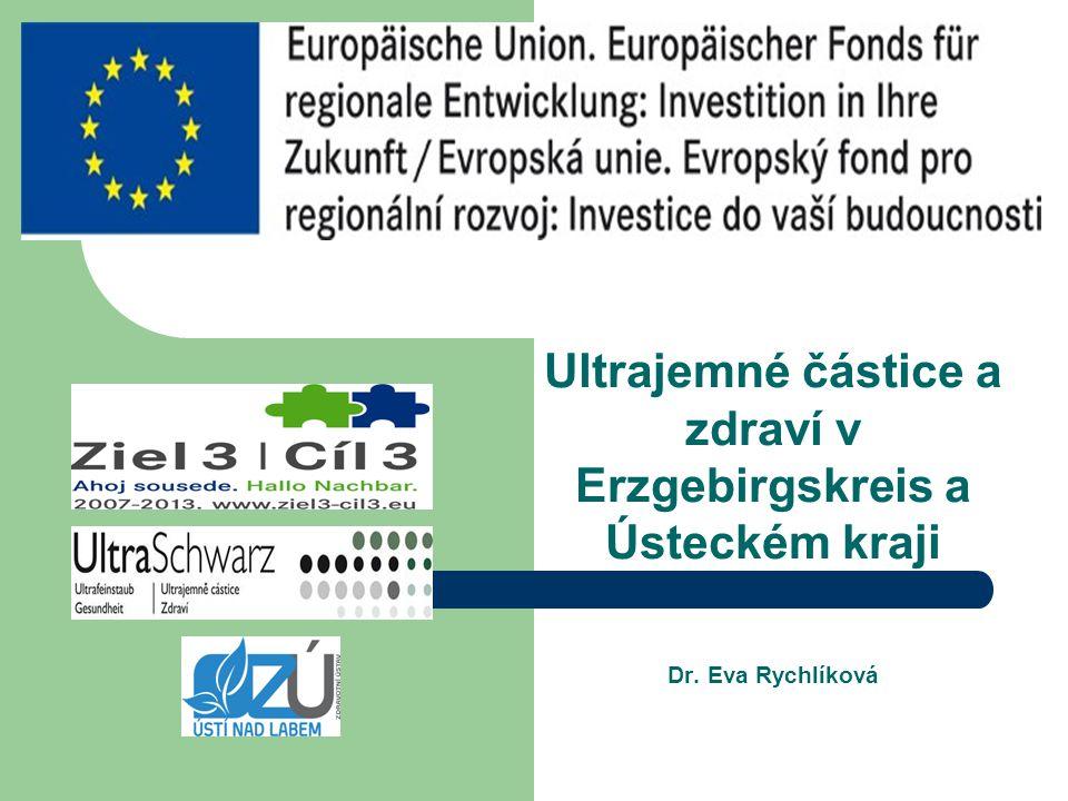 Ultrajemné částice a zdraví v Erzgebirgskreis a Ústeckém kraji