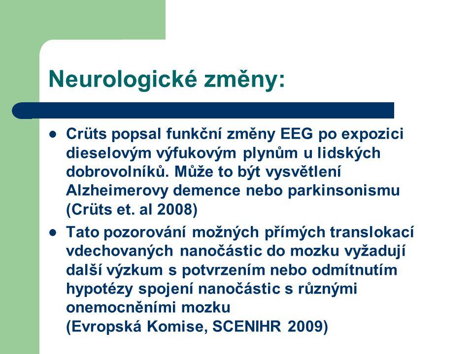 Neurologické změny: