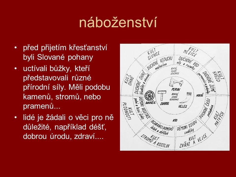 náboženství před přijetím křesťanství byli Slované pohany