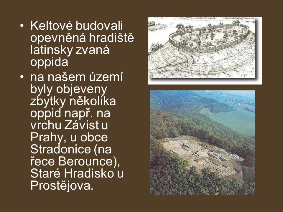 Keltové budovali opevněná hradiště latinsky zvaná oppida