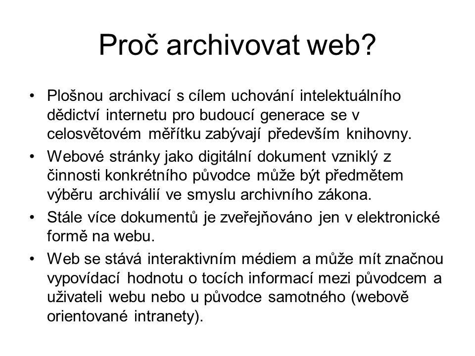 Proč archivovat web