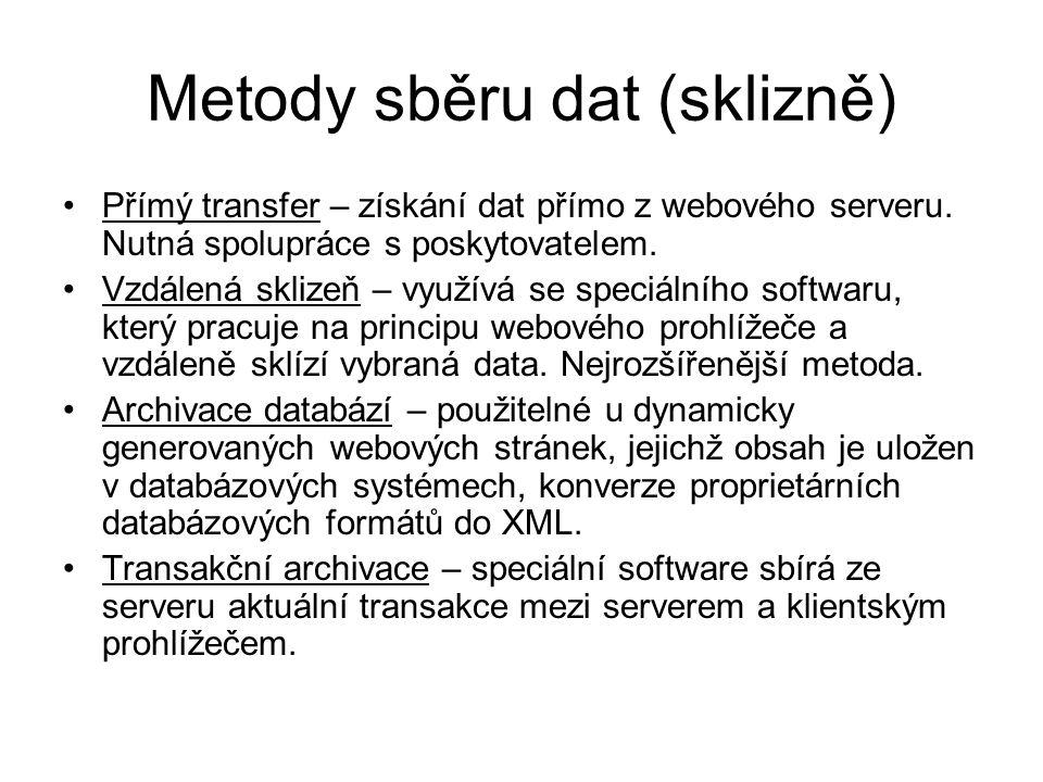 Metody sběru dat (sklizně)